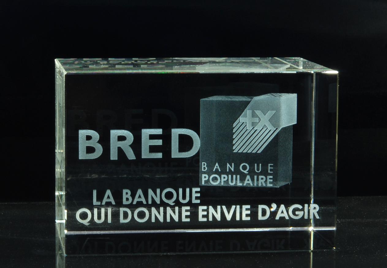 Gut bekannt Cadeau d'affaire, cadeau d'entreprise original en verre EH01