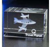 Bloc en verre 3D-Travel Planet
