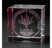 Cube en verre 3D-Gallois