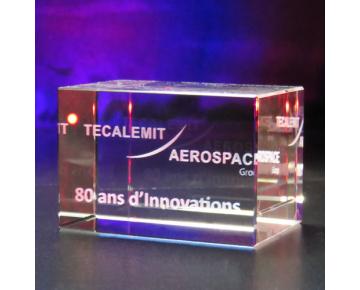 Bloc en verre 40x40x60 mm