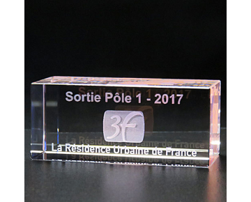 Bloc en verre 30x30x70 mm