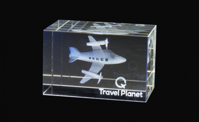 Bloc en verre 3D-Travel Planet
