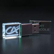 Clé USB en verre