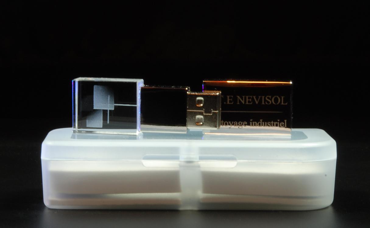 clé USB de luxe gravée 3D