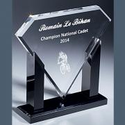 Trophée en plexiglass diamant