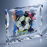 Trophée en plexiglass plaque biseautée
