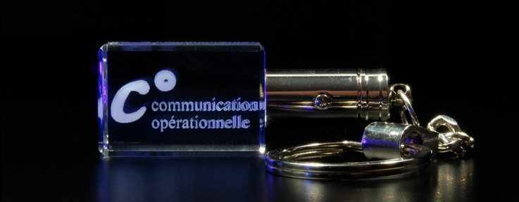 Cadeaux d'entreprise en verre gravure logo 2D