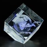 Cube avec gravure 3D
