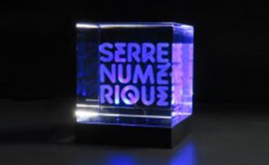 Création de logo société gravé sur verre pour la Serre Numérique image 1