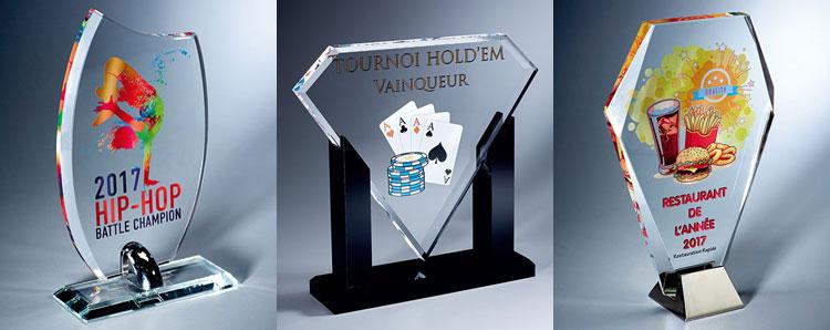 Découvrez nos trophées personnalisés avec marquage couleur